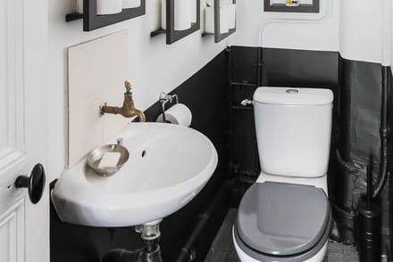d co wc id es d 39 am nagement pour les toilettes. Black Bedroom Furniture Sets. Home Design Ideas