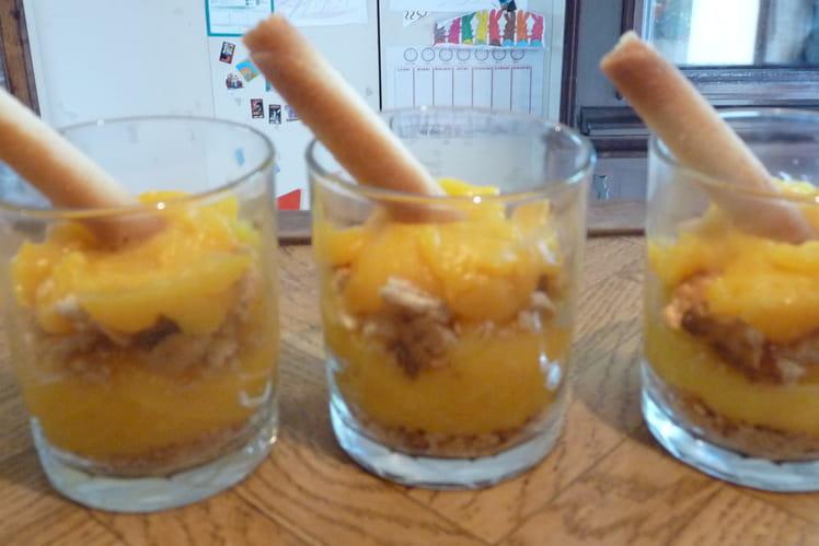 Crèmes de citron en verrines
