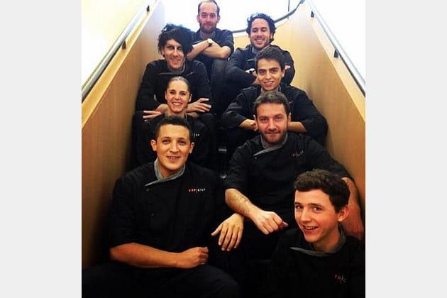 Les Top Chef en cage... d'escalier