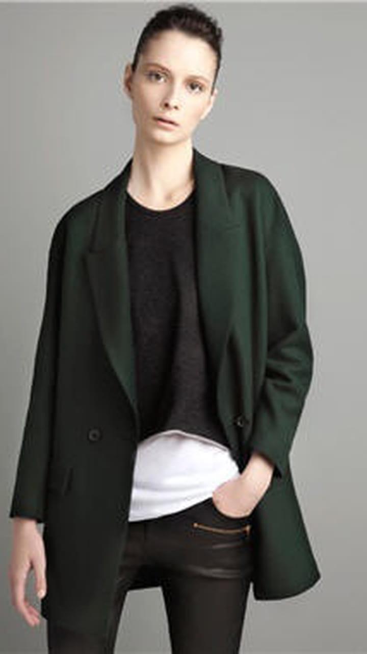 manteau zara noir manche évasée collection 2012