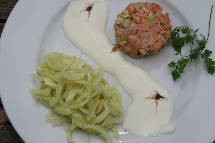 Tartare de saumon au fenouil