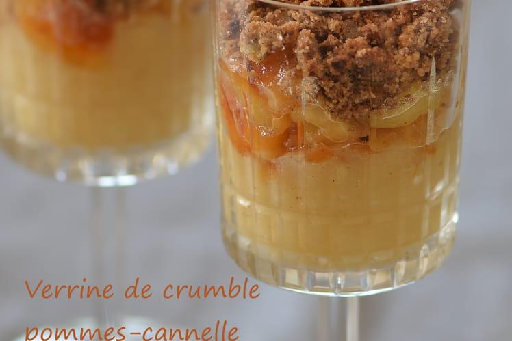 Verrines de crumble pommes-cannelle