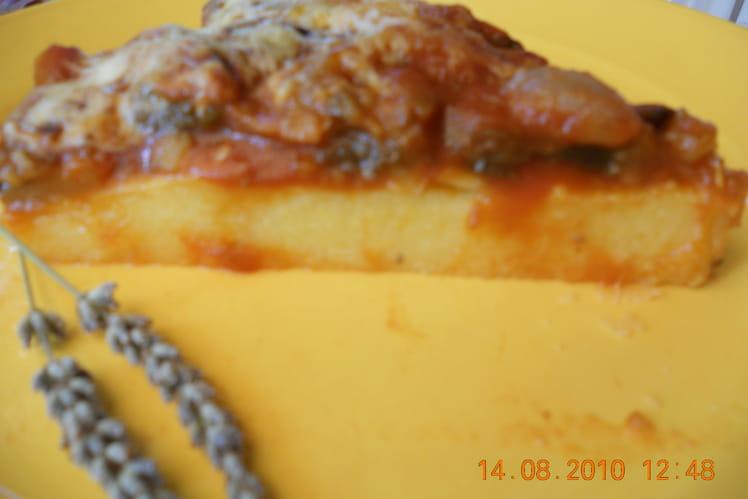 Tarte polenta et chichoumée