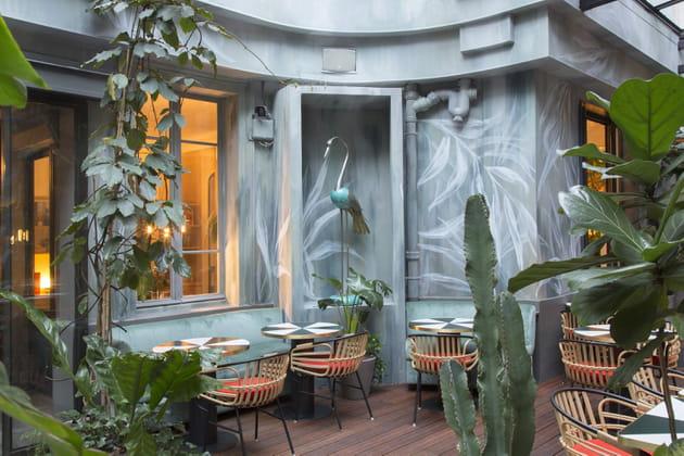 La terrasse du restaurant Klay Saint-Sauveur