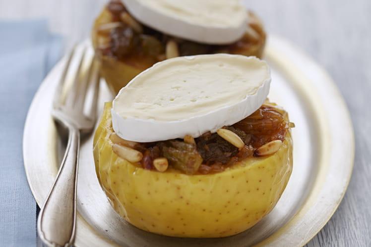 Pomme rôtie aux raisins secs & Caprice des Dieux