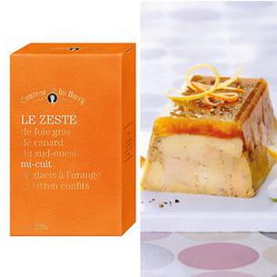 le zeste de foie gras de canard