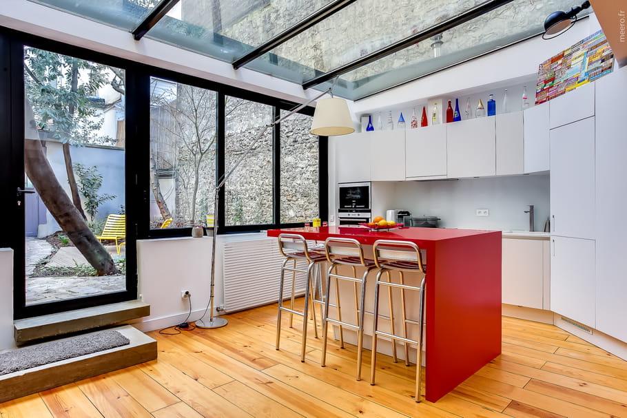 Une v randa cuisine for Extension cuisine veranda