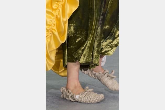 Les chaussures en corde du défilé Central Saint Martins MA