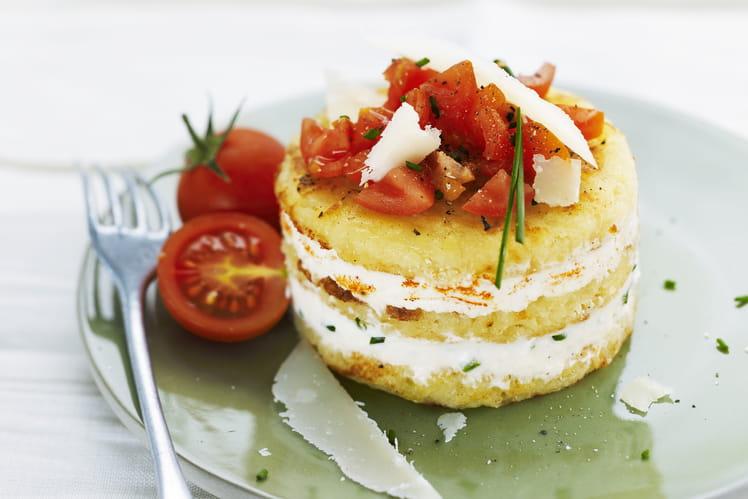 Galette McCain cheesecake de pommes de terre aux herbes, tomates et épices