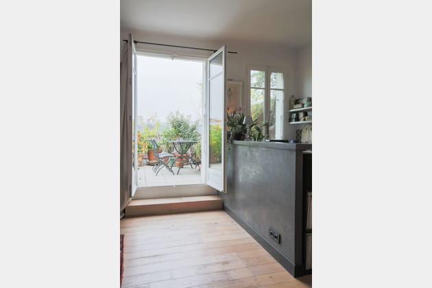 Balcon-terrasse dans un appartement parisien