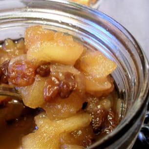 chutney de pommes à la cannelle