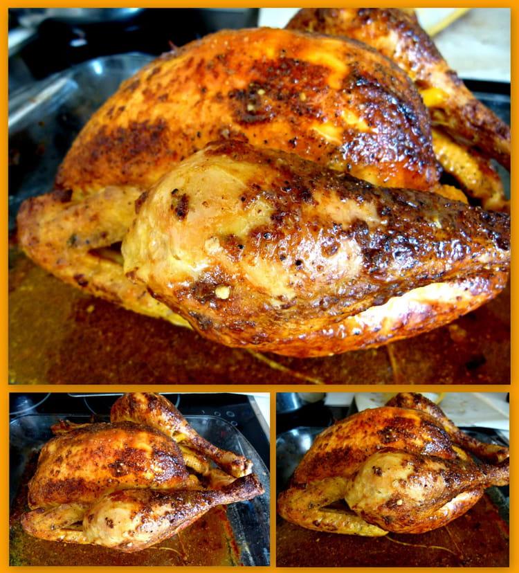 Recette de poulet r ti comme en r tisserie la recette facile - Cuisiner un poulet roti ...