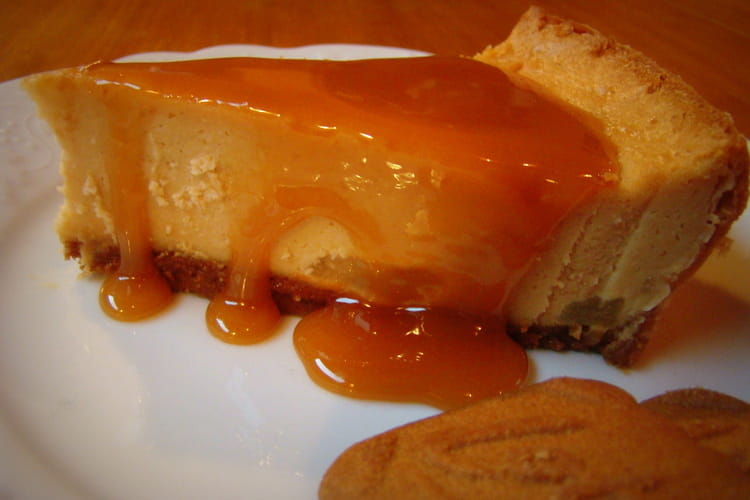 Cheesecake spéculoos, poires et carambars