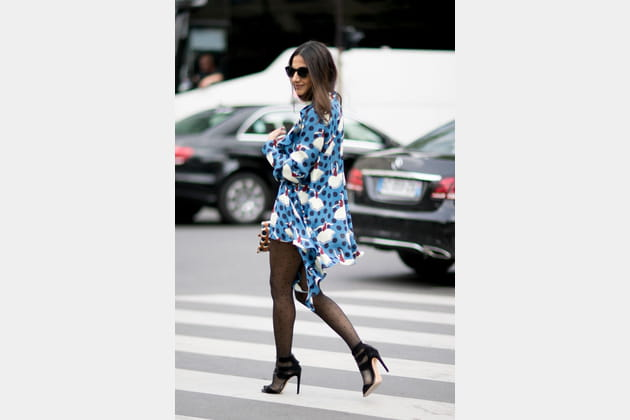 Street style à Paris : le motif pop