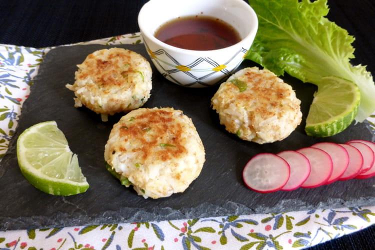 Croquettes de riz au crabe
