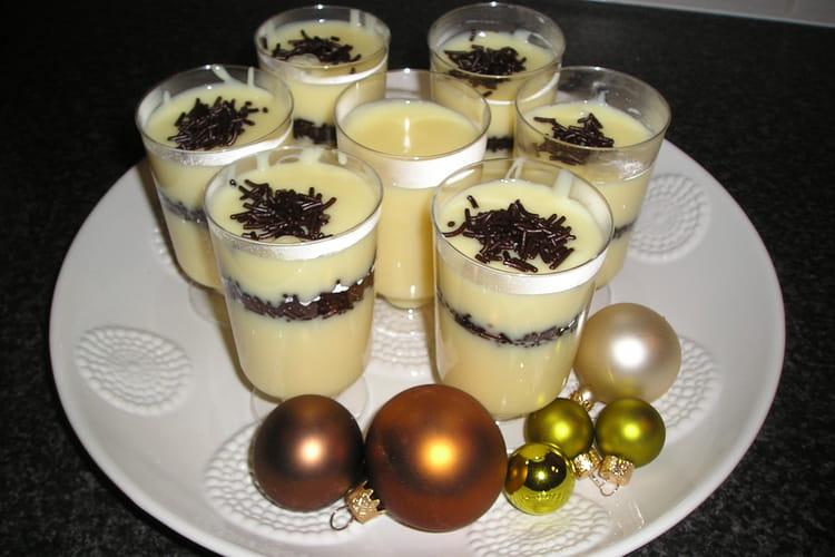 Crème à la vanille et aux pépites de chocolat