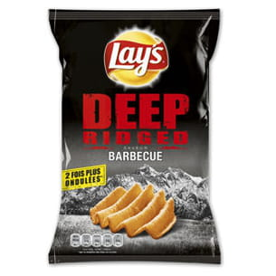 chips deep ridged saveur barbecue
