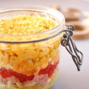 salade de maïs et ananas