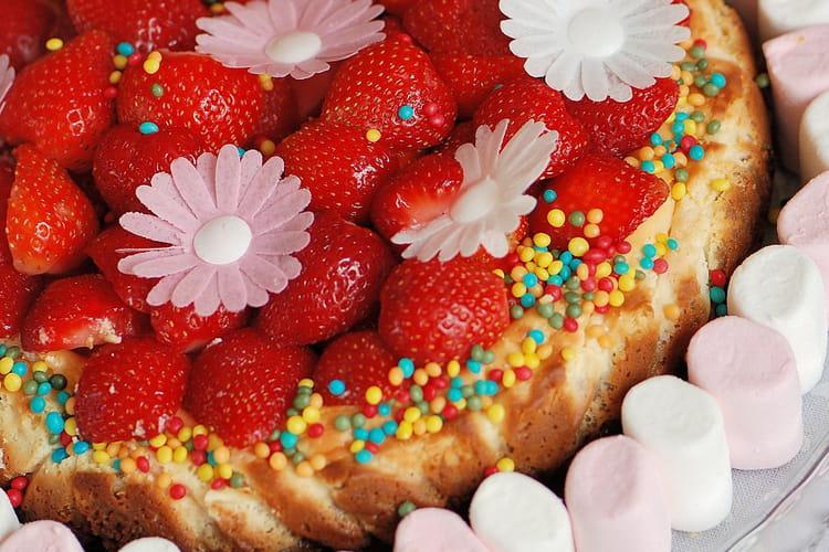 Cheesecake au fluff & fraises