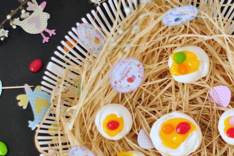 Mini pavlovas de Pâques