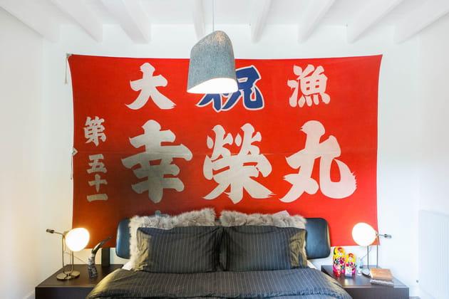 Tête de lit drapée