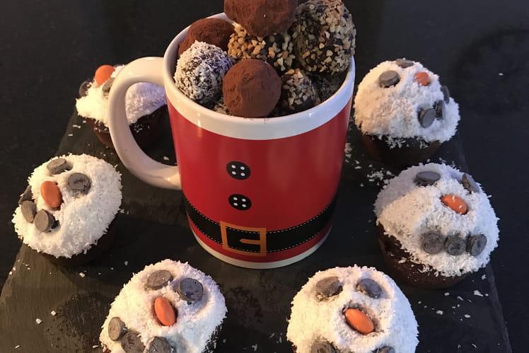Muffins bonhomme de neige