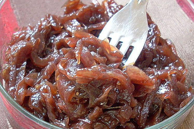 Compotée d'oignons rouges caramélisés