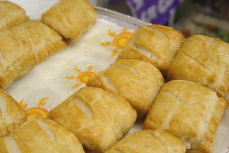 Mini-feuilletés au jambon et au fromage