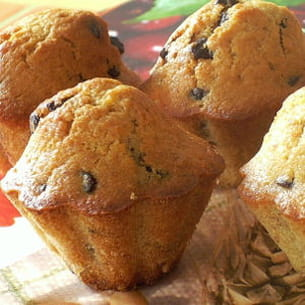 muffins à la banane et au chocolat