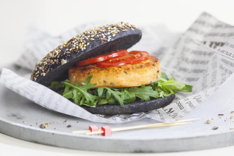 Burger marin GAP saumon atlantique, pommes de terre et ciboulette Cap Océan