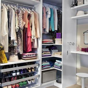 Un dressing facile vivre avec castorama - Castorama dressing tout en un ...