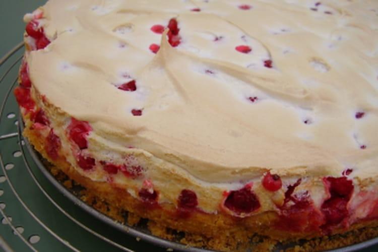 Gâteau meringué à la groseille