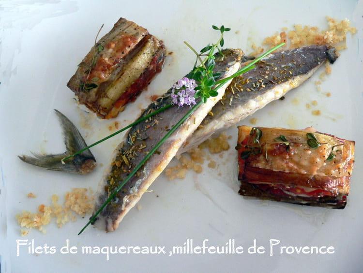 Recette de filets de maquereaux millefeuille de provence - Cuisiner des maquereaux ...