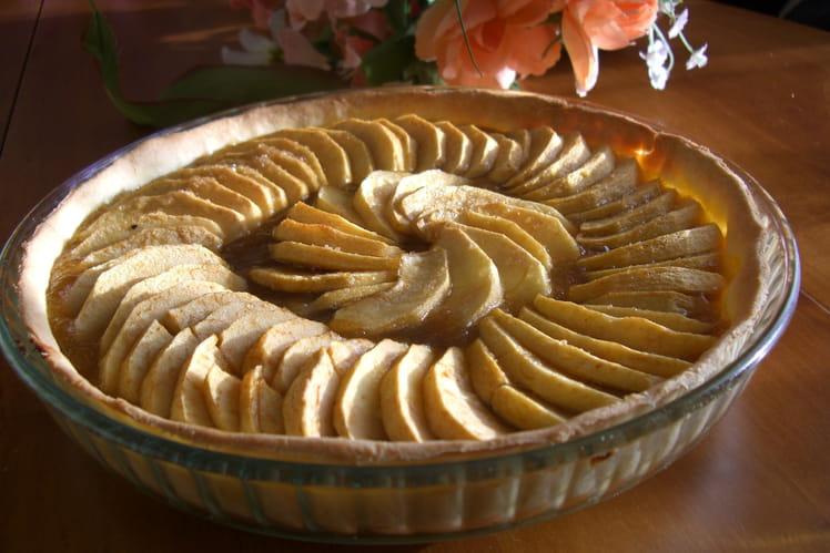 Tarte aux pommes et confiture de poires