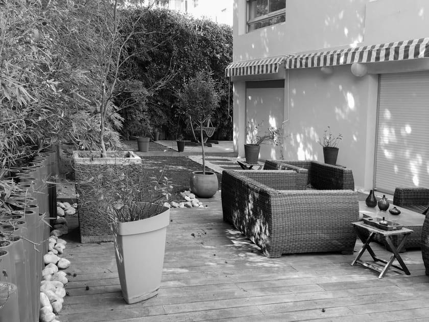 Un jardin et une terrasse revus et corrigés pour un style intemporel