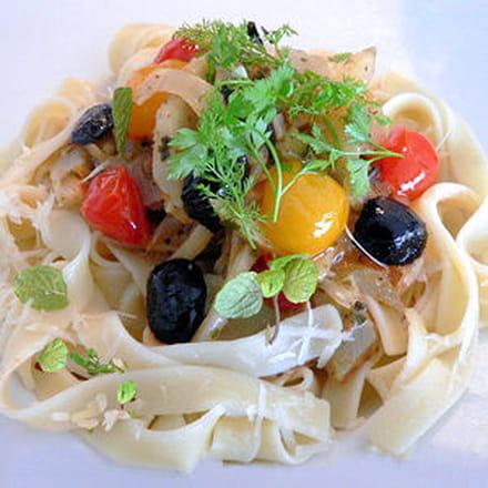 tagliatelles aux légumes méditerranéens
