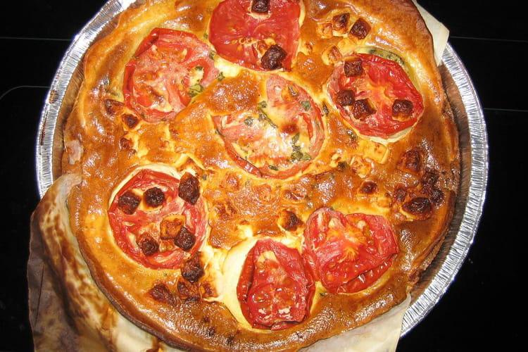 Tarte provençale à la tomate et au chèvre