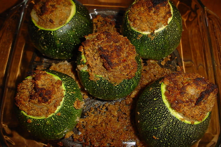 Courgettes rondes farcies