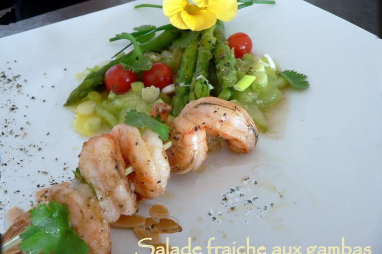 Salade fraîche aux gambas