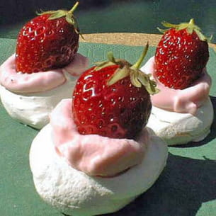 petits nids aux fraises
