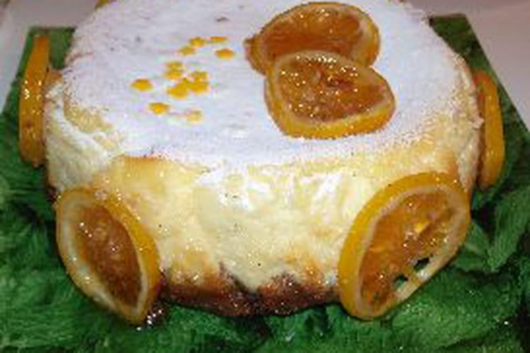 Cheesecake citron vanillé