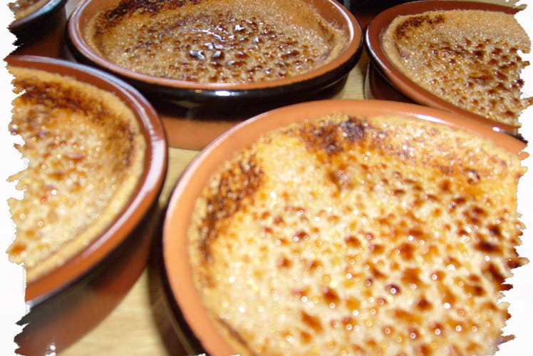 Crèmes brûlées à la framboise