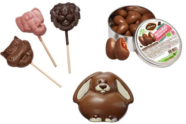 Les œufs et animaux en chocolat Belledonne
