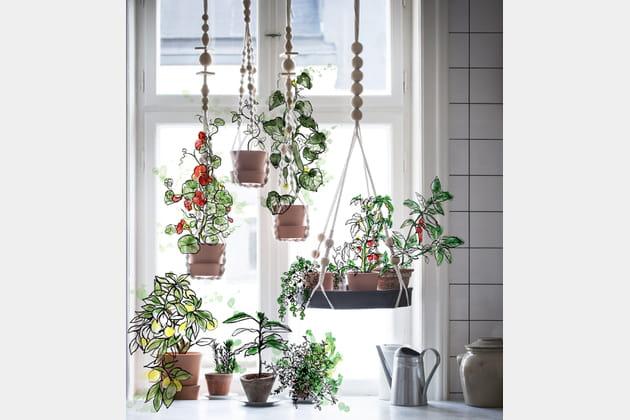 Plateau pour plantes à accrocher Användbar d'IKEA