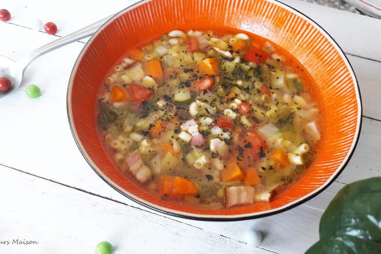 Soupe Minestrone au lard