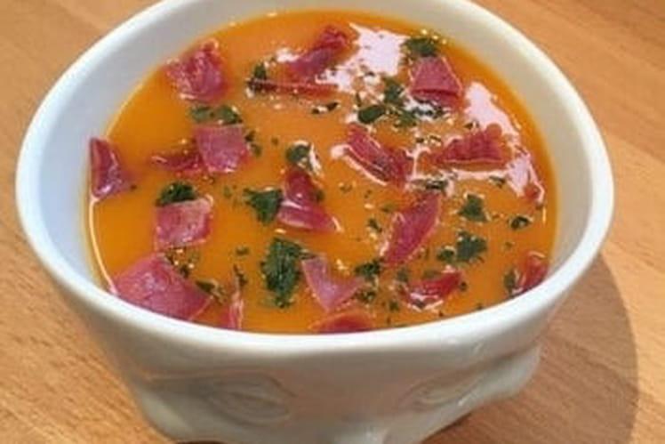 Soupe de butternut et coppa grillée
