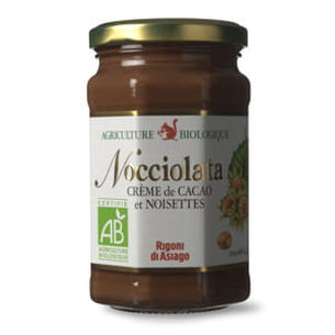crème de cacao et noisettes 'nocciolata' de rigoni di asiago