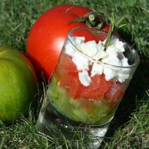 duo de tomates et concassée de feta