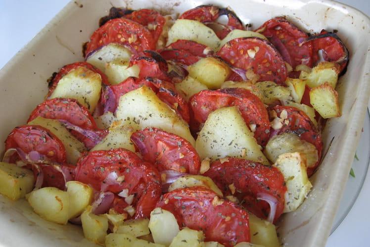 Tian de tomates et de pommes de terre