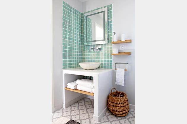Carreaux méli-mélo à la salle de bains